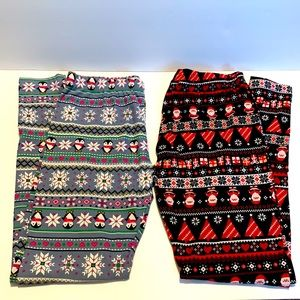No Boundaries Holiday Christmas Winter Leggings